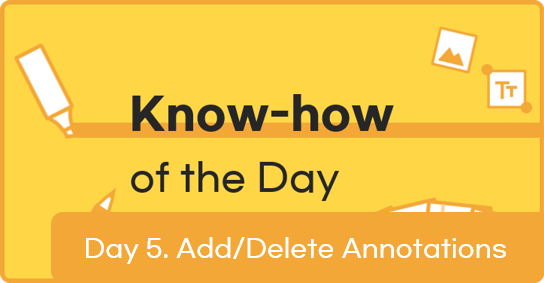 [Know-how of the Day] Day 5. Adding / Deleting an Annotation