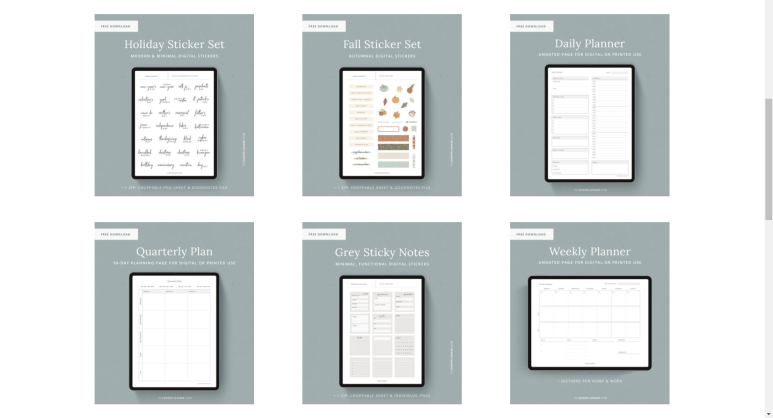 Introducing websites where you can download digital templates for free